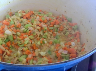 Mirepoix plus that yellow tumeric!