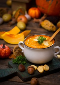 Pumpkin soup, my favorite part of Fall!